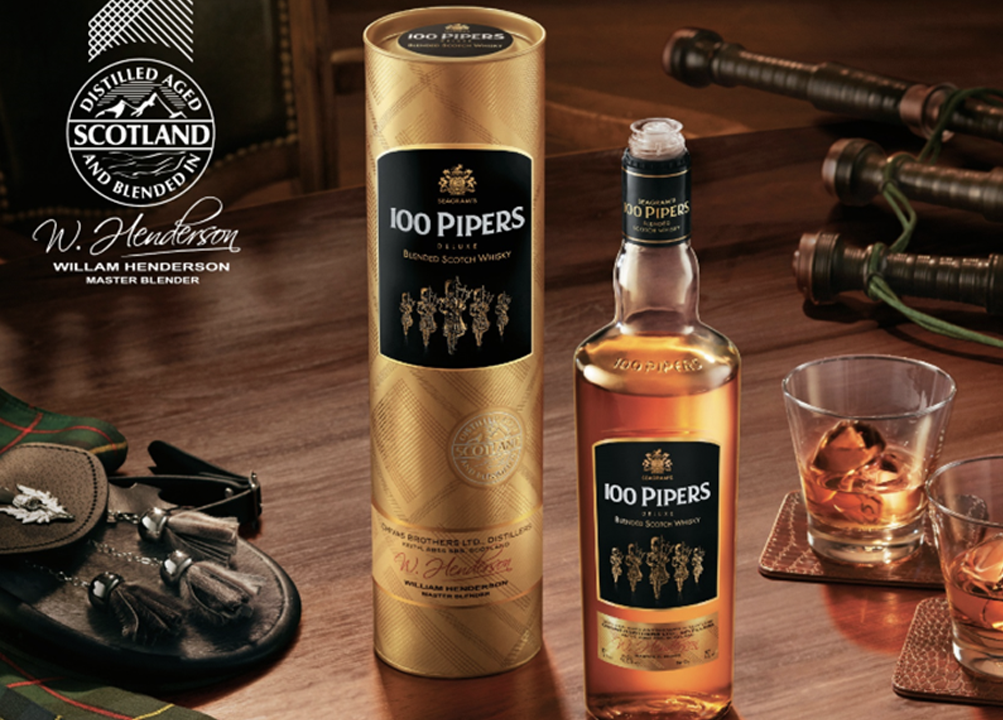 100 pipers blended whisky