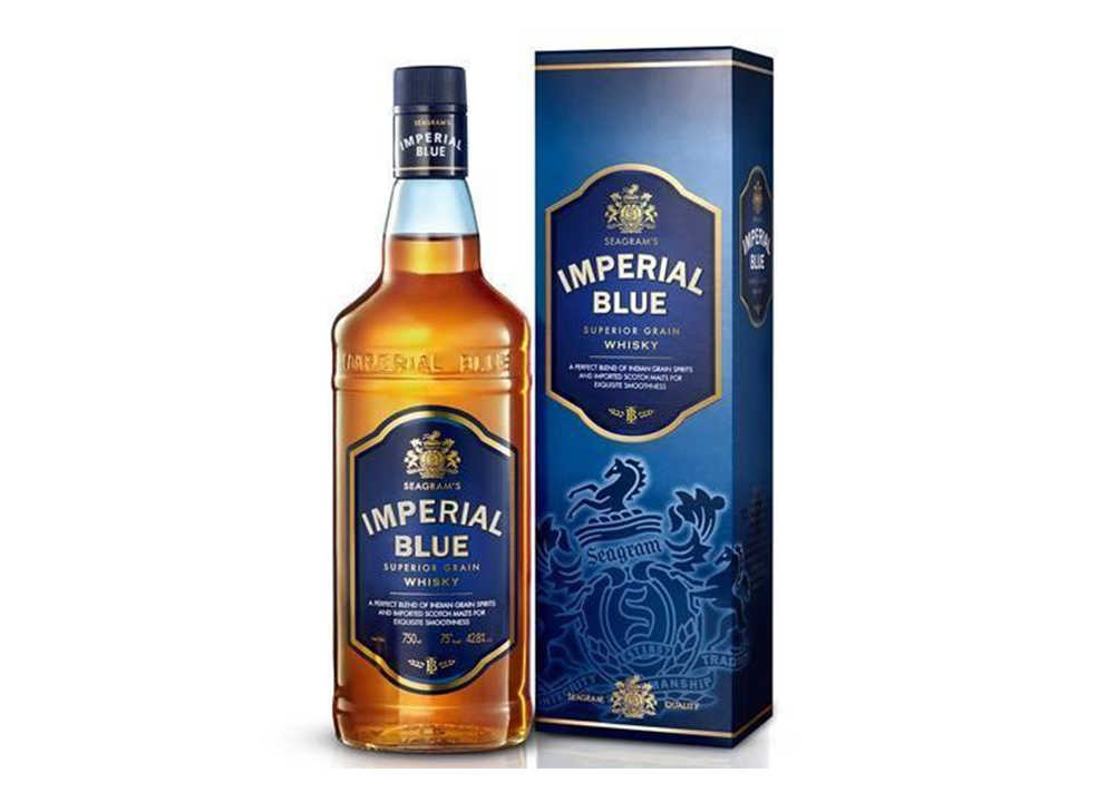 Imperial blue grain whisky