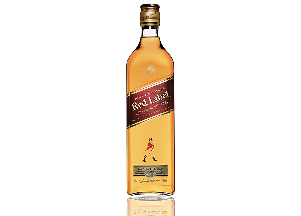 JW red label blended scotch whisky