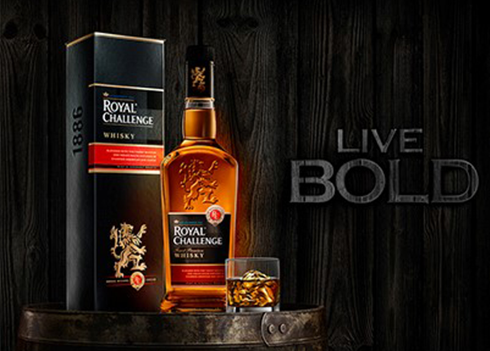 Royal challenge indian whisky